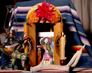 Day of the Dead Altar, photography by Eileen Mandel, staged by E. Parry
