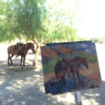 horse and easel