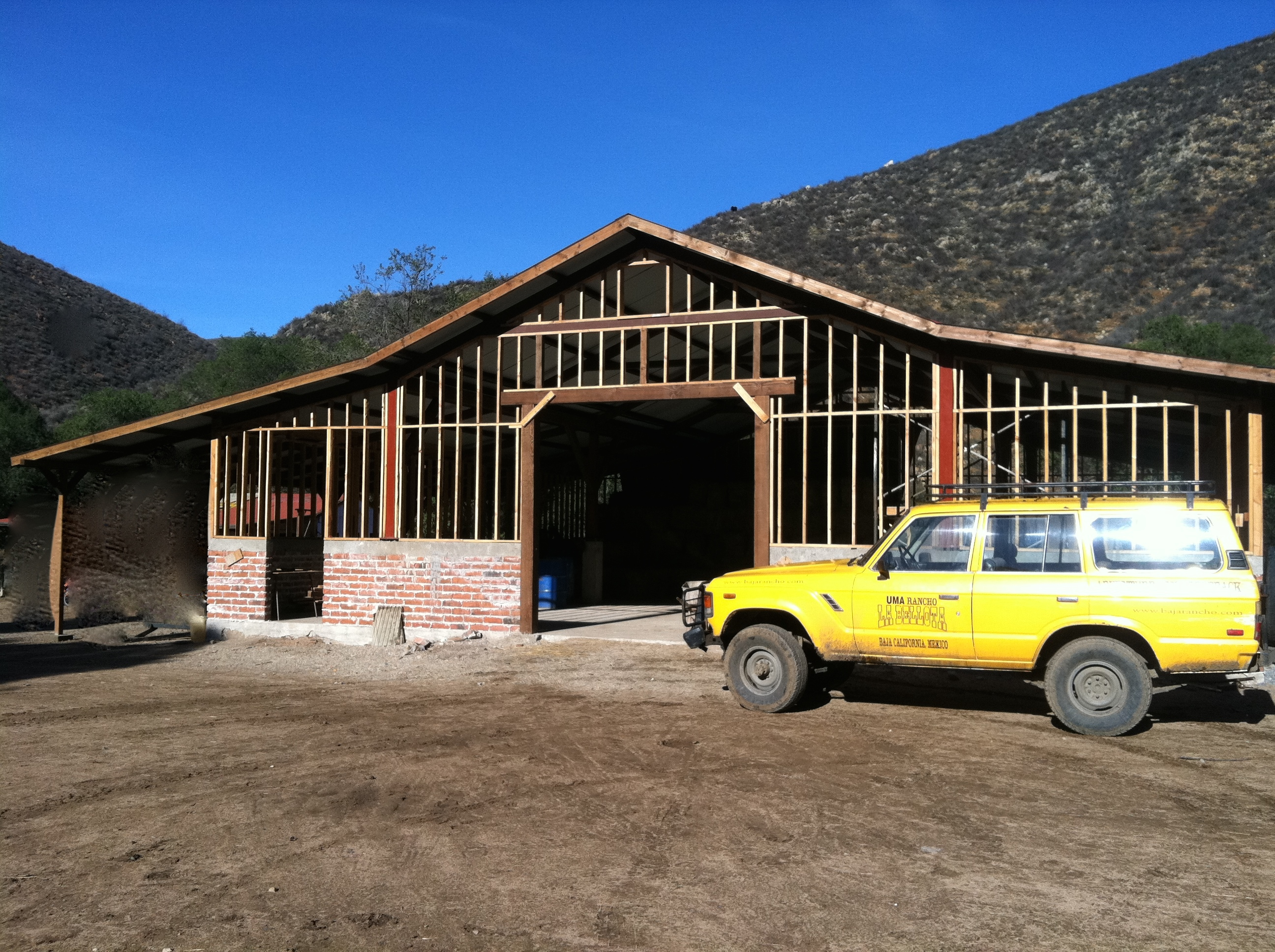 Raul is building a barn here is a photo taken last december of