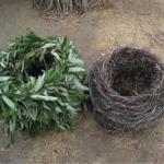 Left - A new basket, Right – after 6 months in the ground
