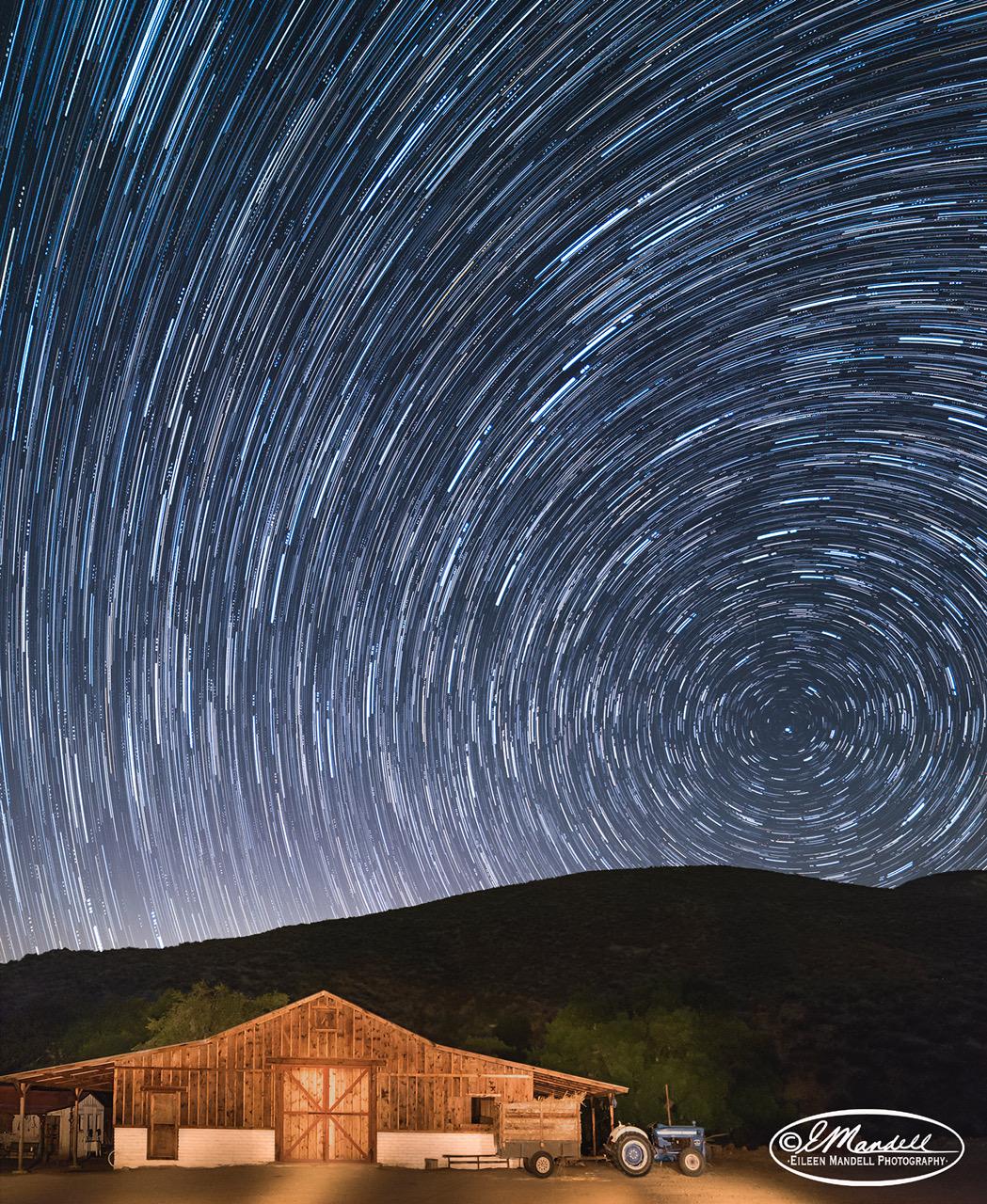 Start Trail Over Barn by Eileen Mandell