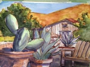 succulent painting start