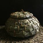 A lidded olla by Virginia Melendrez